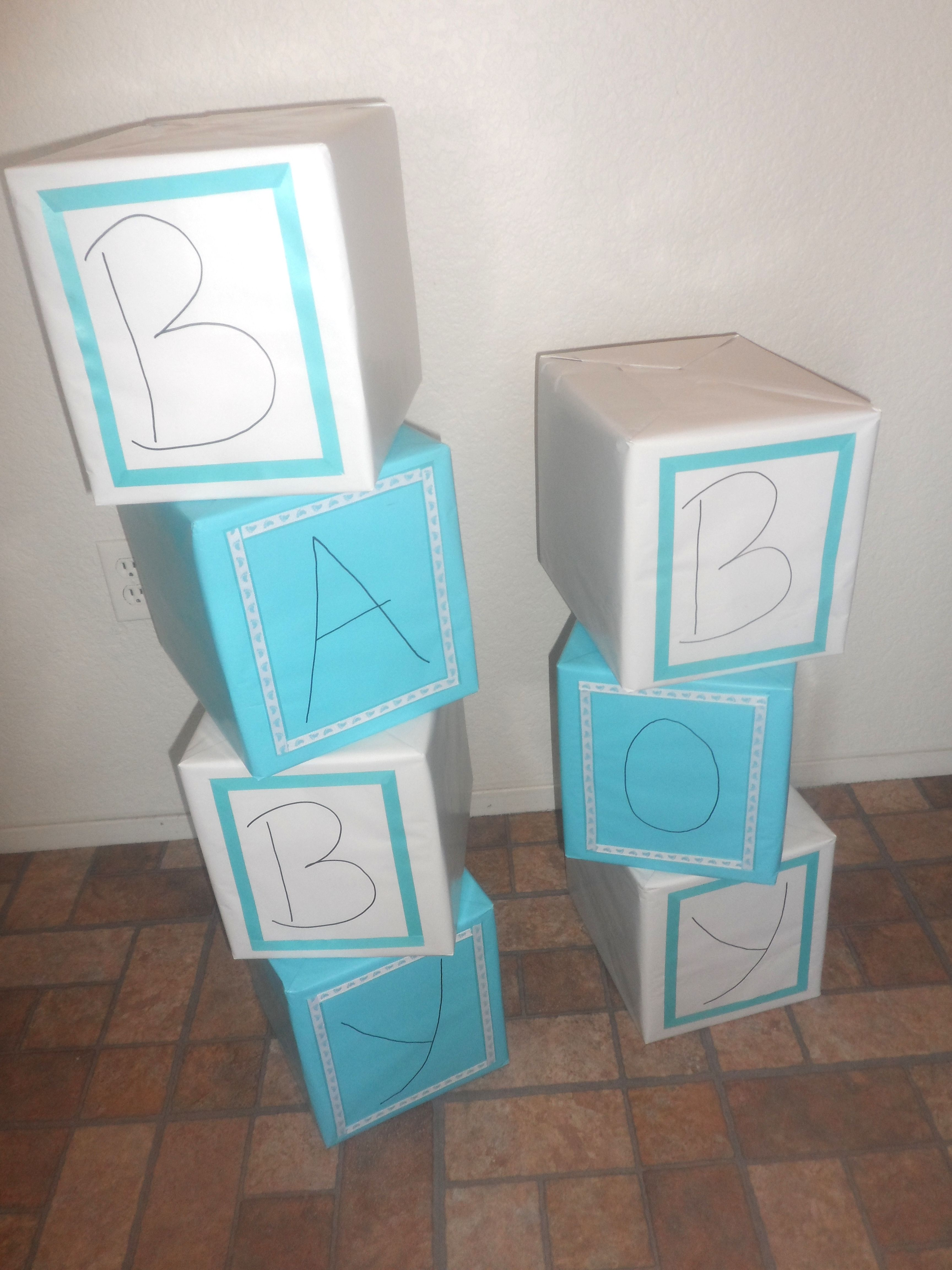 how to make baby blocks for baby shower