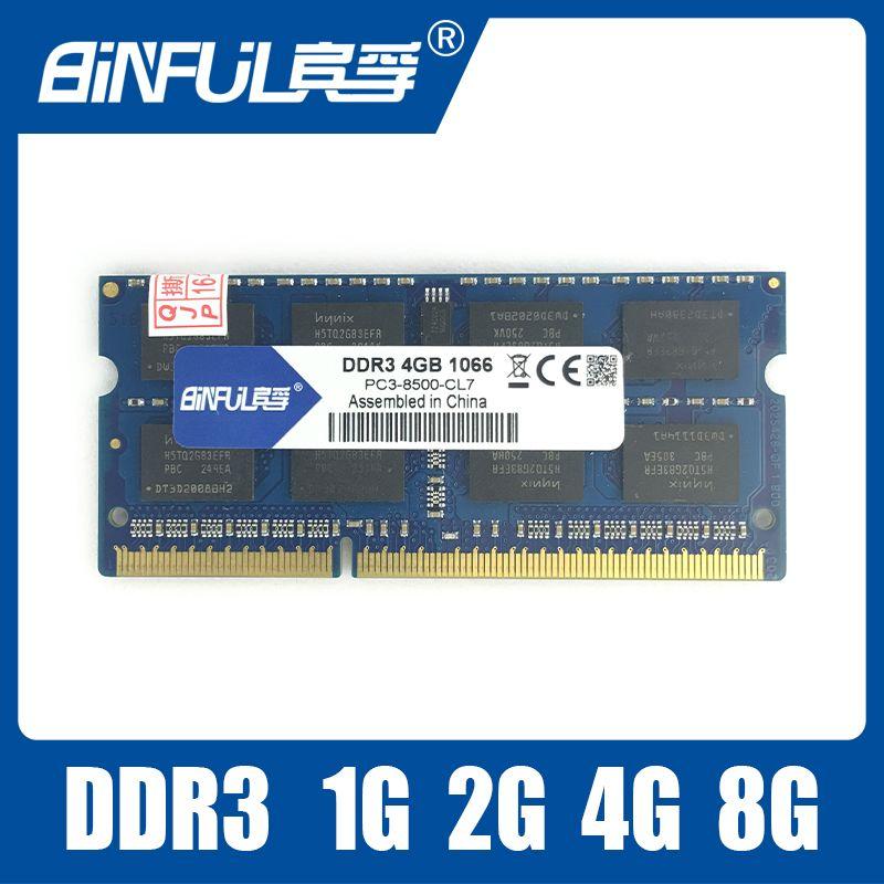 새로운 밀봉 DDR3 1066/1333/1600 PC3 102800 1 기가바이트/2 기가바이트/4 기가바이트/8 기가바이트 노트북 RAM 메모리/평생 보증/무료 배송!