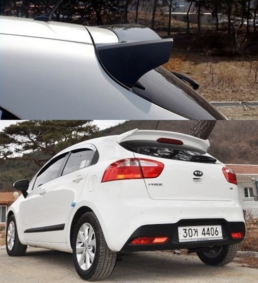 Kia Picanto X Line S 5 Door Hatchback: Rear Roof Wing Spoiler Painted Fit KIA RIO 5D Hatchback