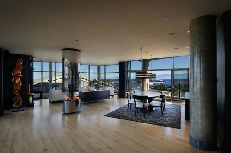 interieur und design ideen saeule modern feuerstelle wohnzimmer ...