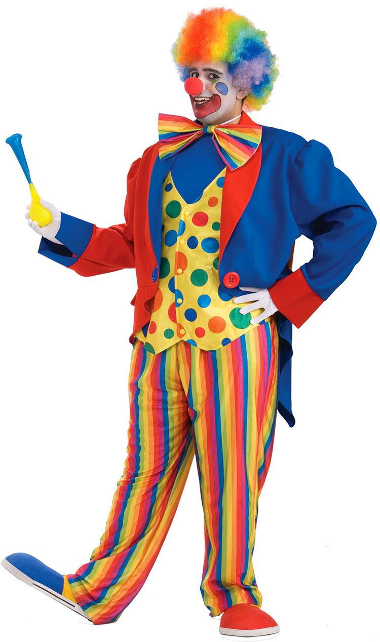 Clown Vest and Bow Tie Adult Costume Accessory