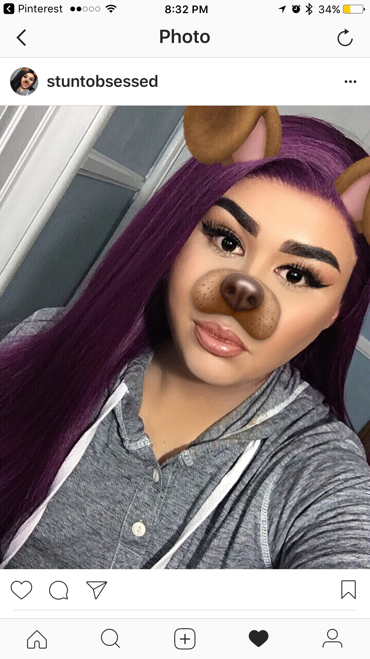 Uniwigs Hair Purple Slay Wig Bomb Makeup Filter Eyebrows