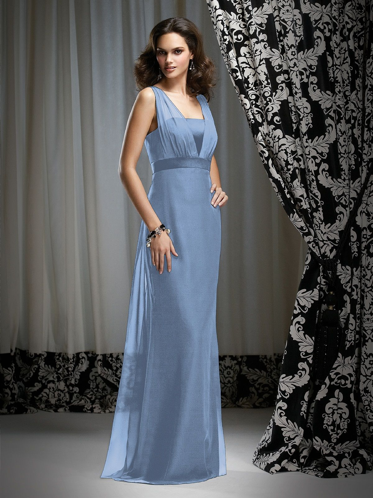 Dessy Bridesmaid Style 2732 - windsor blue chiffon this style is ...