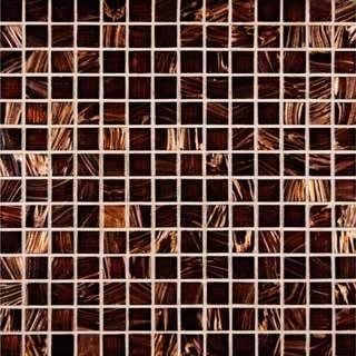 Brown Iridescent 3 4x3 4 12x12 Sheet Mosaic Glass Brown Glass Tile Glass Mosaic Tiles