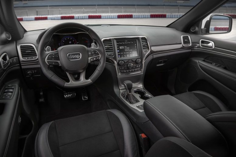 2017 Jeep Grand Cherokee Srt Interior A Dashboard With A Large