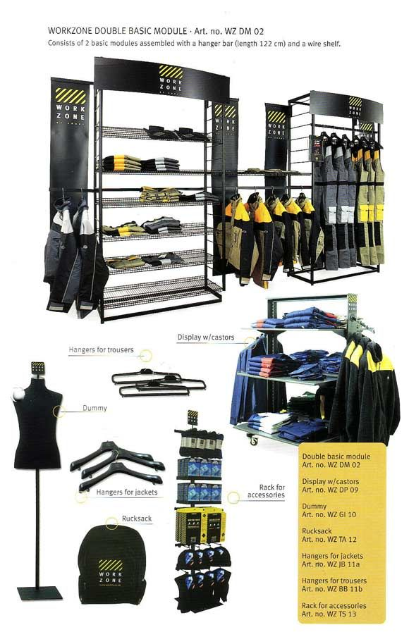 workzone workwear in store display module