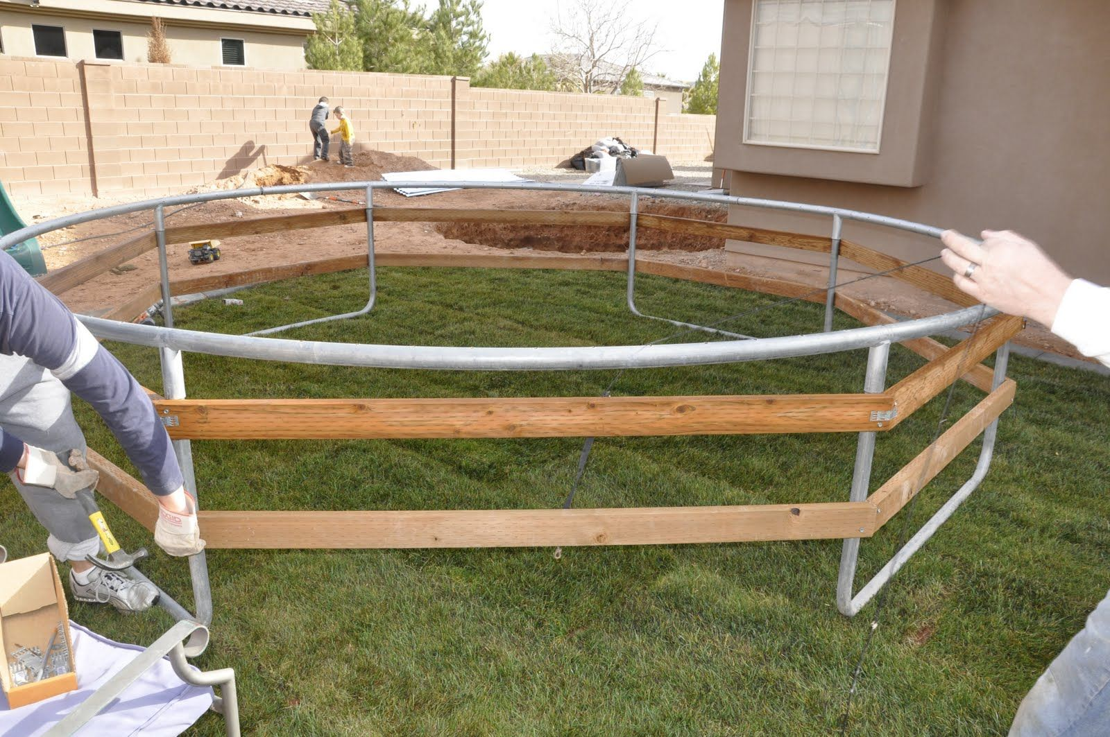 DIY Inground Trampoline Instructions