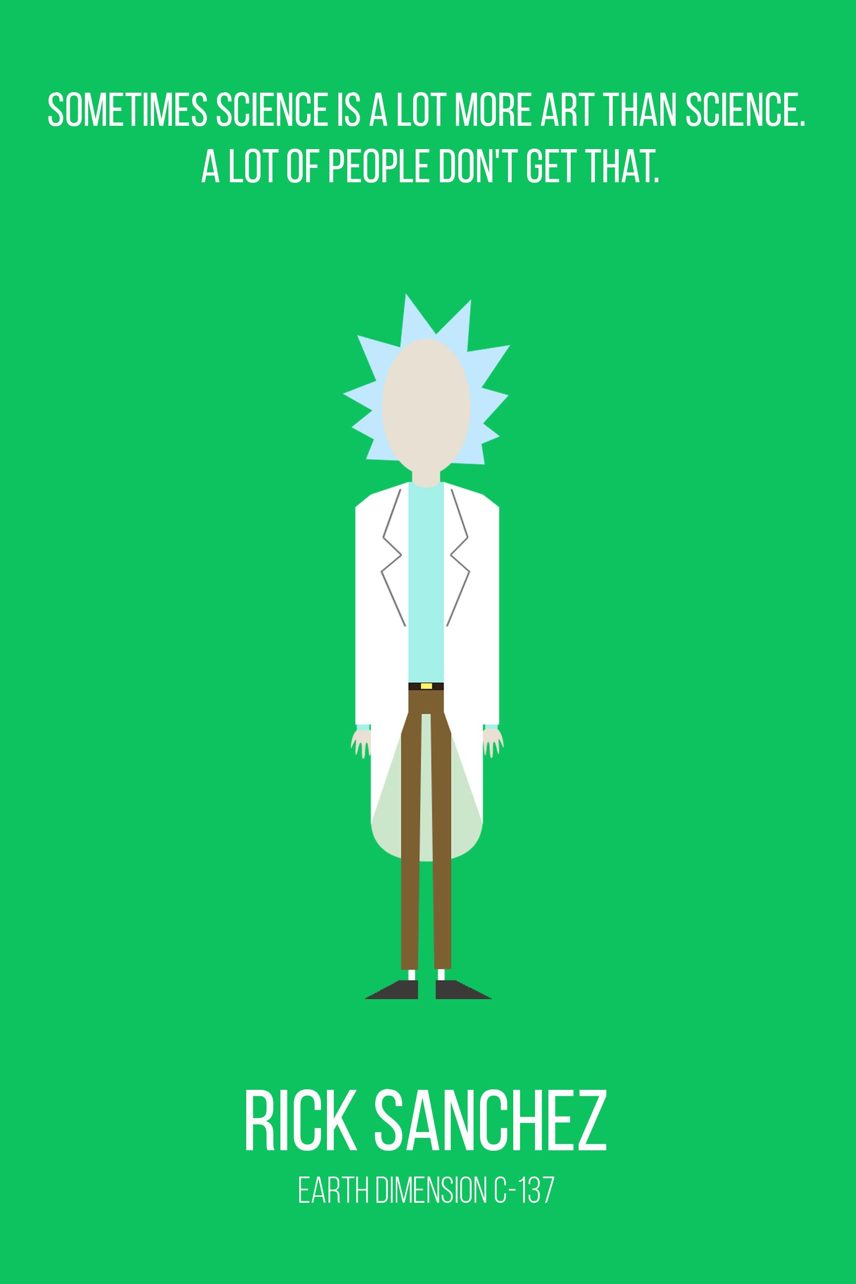 my minimalist rick and morty character collection nice art