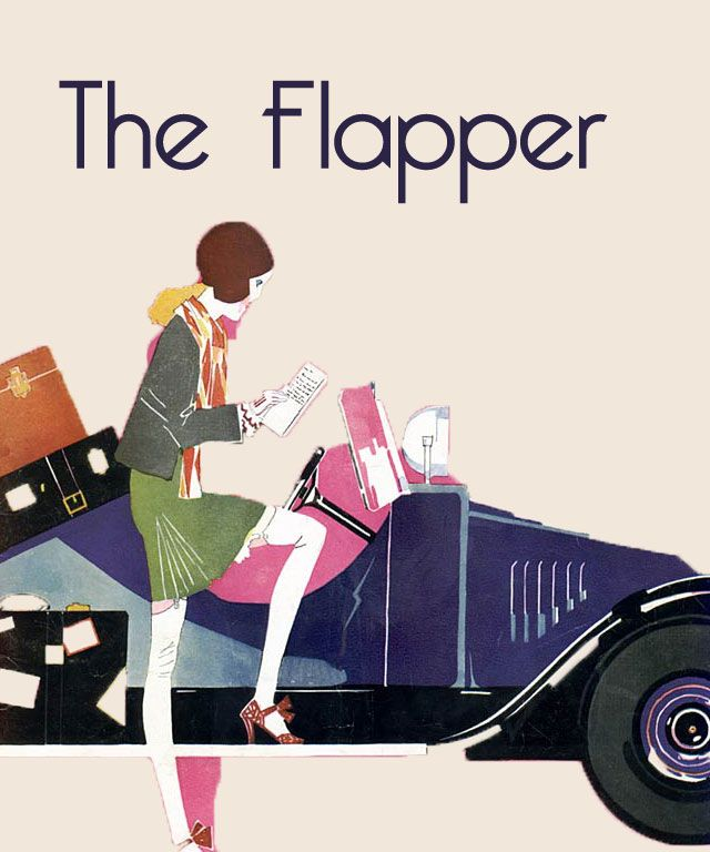 The Flapper defined the style of the 1920′s,with her flat tomboyish silhouettes and her Parisian inspired cloche [ bell ] hats; though she is often misunderstood and misrepresented as the frivolous ' bright young things' of the UK after the 1914 to 1918 war, and the typical so called ' flapper' dress is more of a retro 1960′s reproduction, replete with fringed beaded dress, cigarette holder and badly fitting bobbed wig and feather!