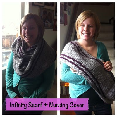 One Oops At A Time Infinity Scarf Nursing Cover Crochet Pattern