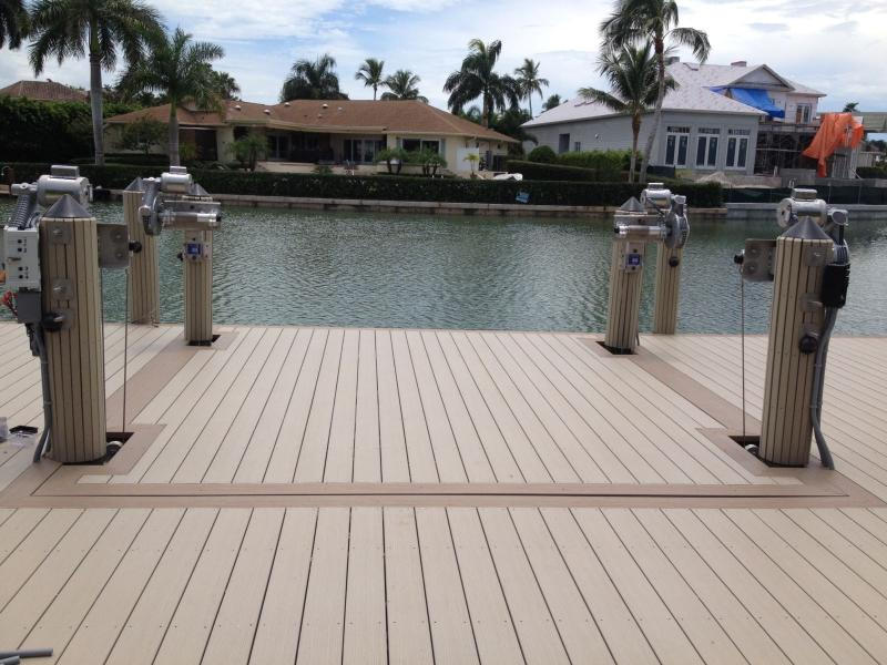 Pvc Boat Lift : Tandeck plastic decking installed on a boat lift shoreline