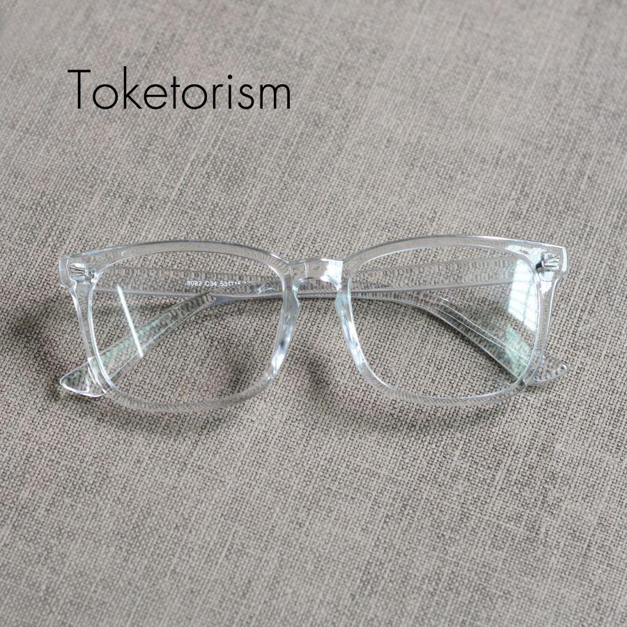 5782cb5413 Toketorism claro moda vintage Hipster gafas marca diseñador retro gafas  marco hombres mujeres 2808
