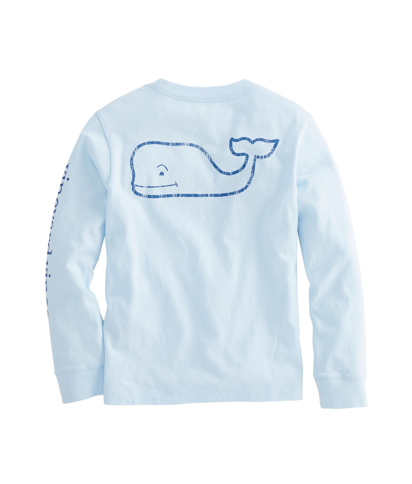 Vineyard Vines Boy/'s White Cap Send It Whale Long Sleeve Pocket T-Shirt