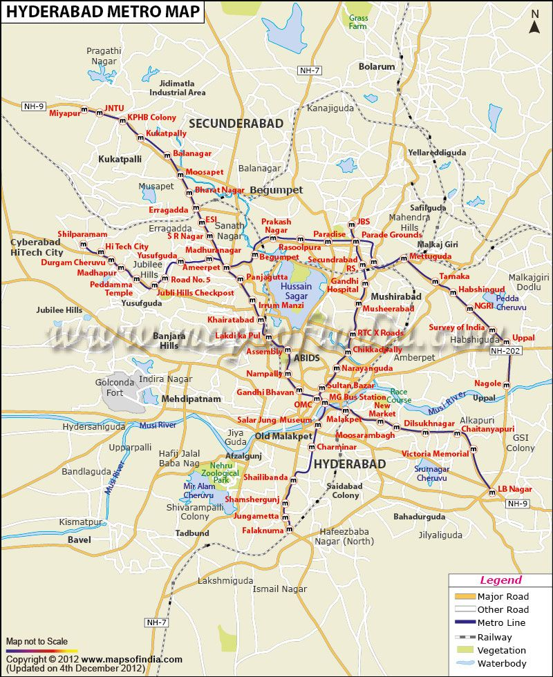 Metro Map Of Hyderabad Metro Tube Underground Pinterest