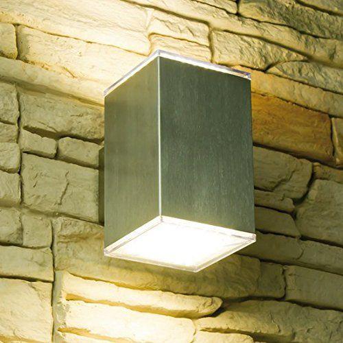 Gut LED Wandleuchte CUBE, Außenleuchte, Außenlampe, Edelstahl, IP44  ZD98