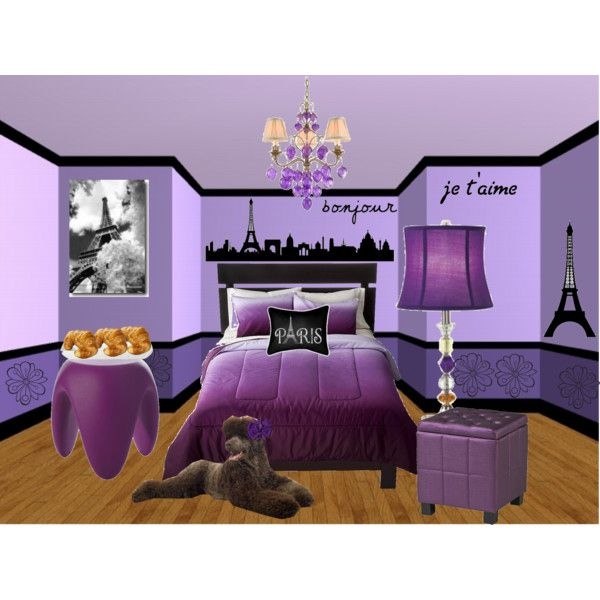 Purple Paris Bedroom By Lilylovespoppy On Polyvore