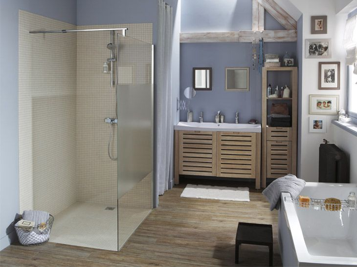 Douche à Litalienne Styles Et Tendances Leroy Merlin Salle - Renovation salle de bain leroy merlin