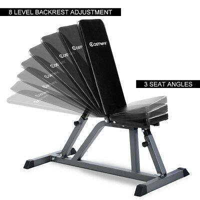 Costway Weight Workout Adjustable Folding Sit up Incline Bench for sale online   eBay