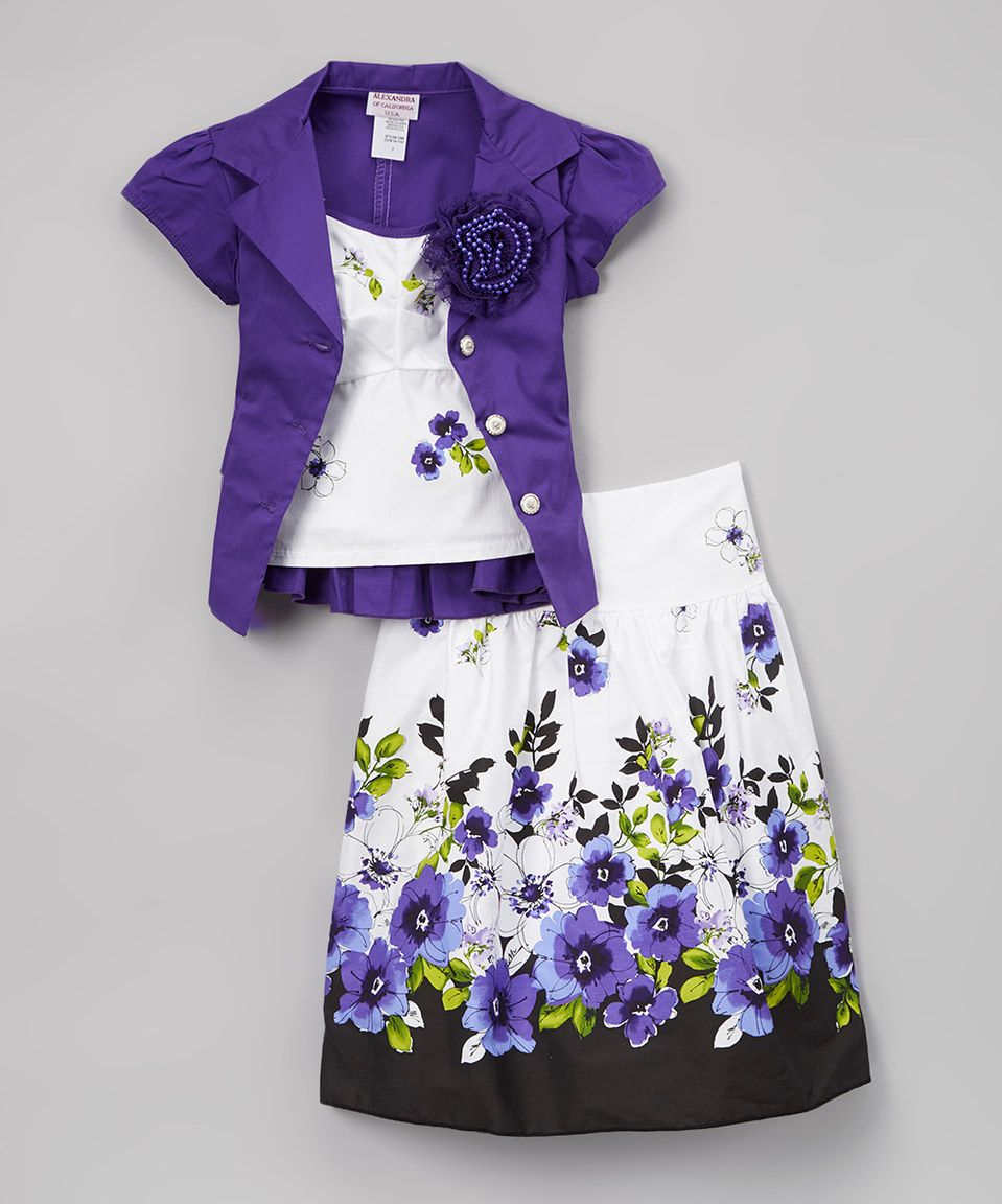 b76ca2b04c8f Look what I found on  zulily! Alexandra Dresses Purple Floral A-Line ...