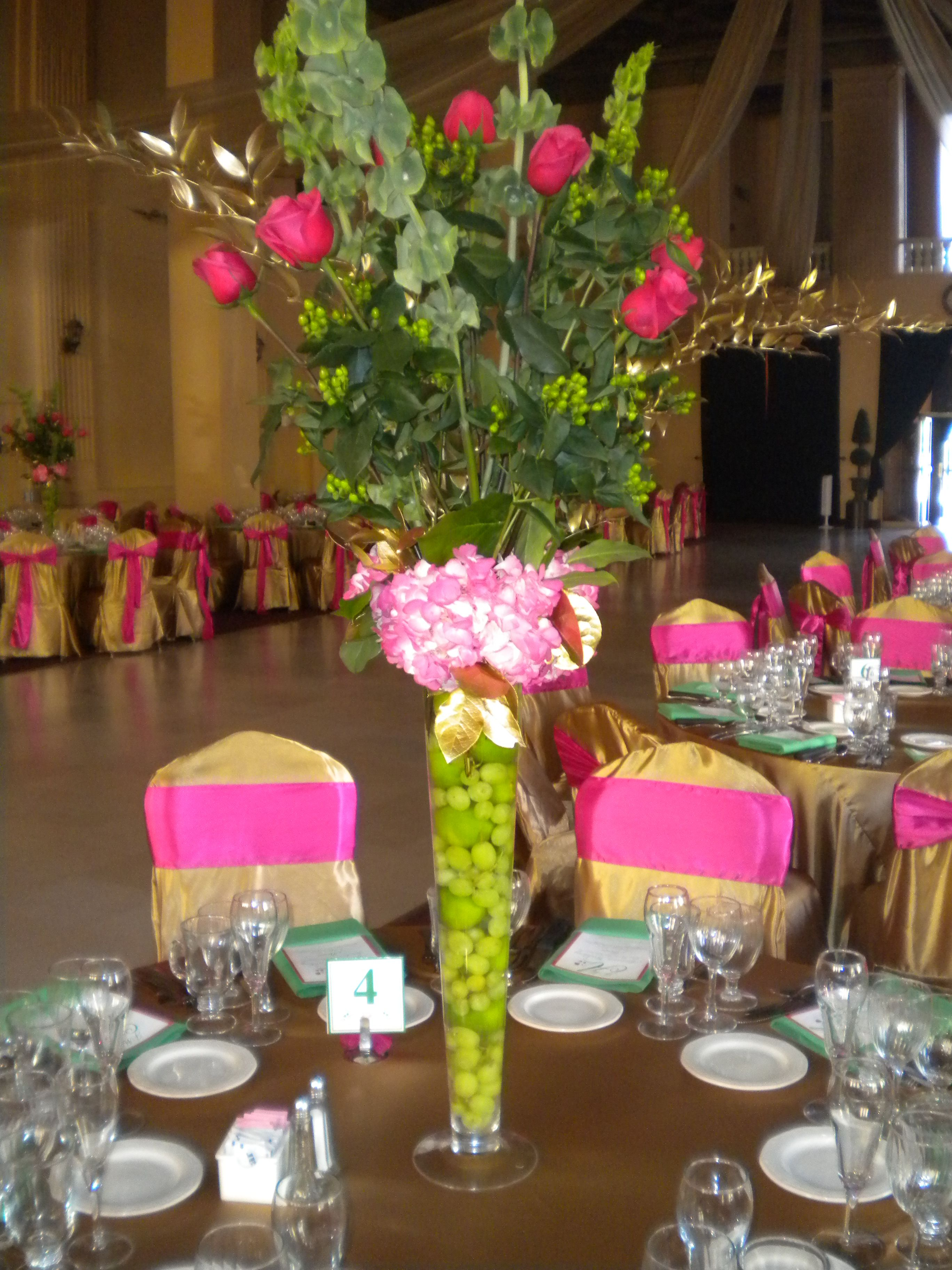 Lime Green And Fuchsia Wedding