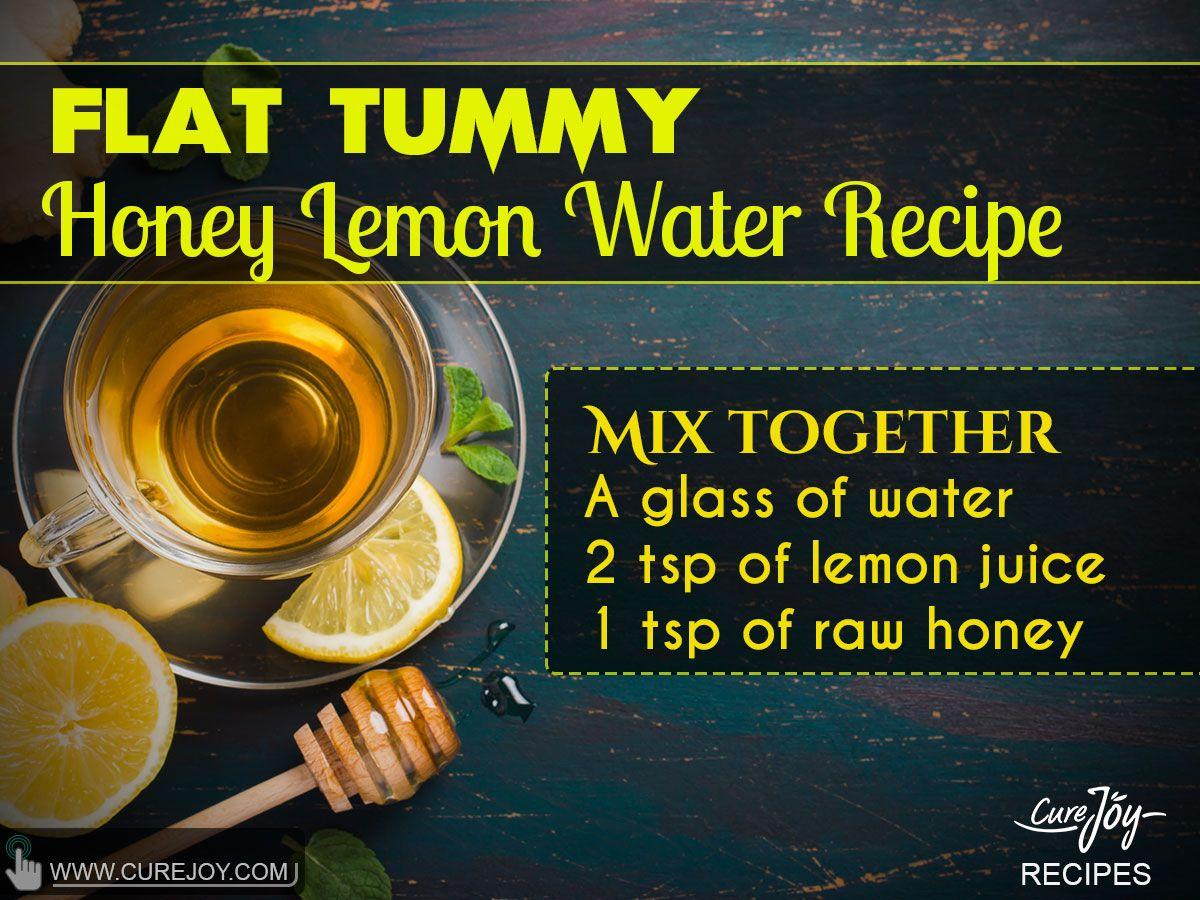 39.Flat Tummy Honey Lemon Water Recipe More