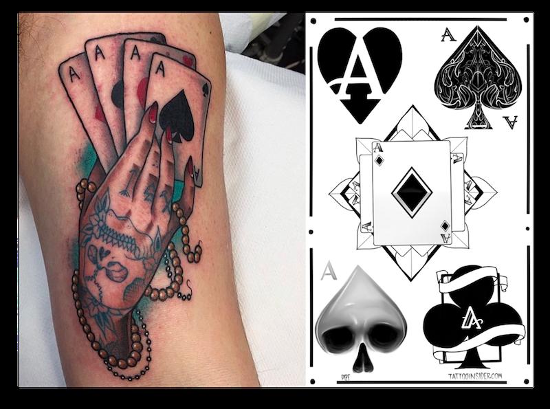 Best Ace Tattoos And 5 Free Ace Tattoo Designs Tattoo Insider Ace Tattoo Card Tattoo Designs Ace Of Spades Tattoo