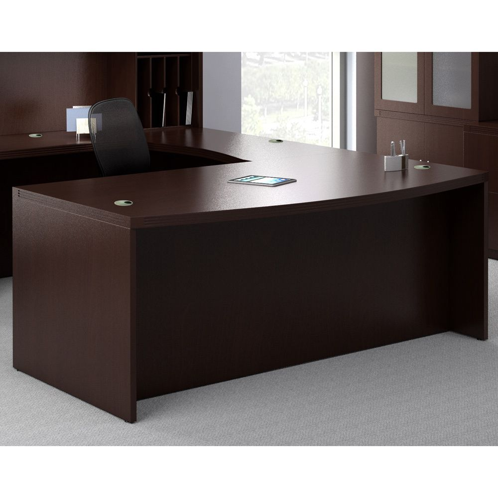 This Laminated Wood Large Desk Shell By Mayline Aberdeen Is 66 Inches Wide And 29 5