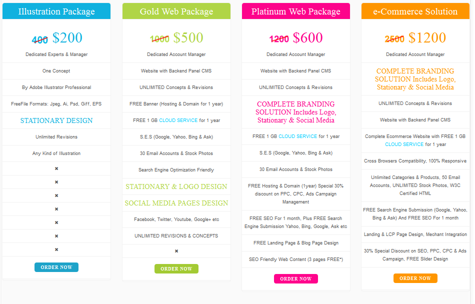 Custom Logo And Web Design Packages Prices Web Design Packages Web Design Affordable Logo