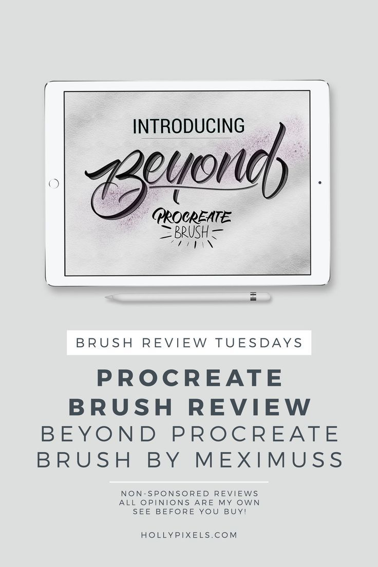Procreate Brushes Review Lettering, Lettering tutorial