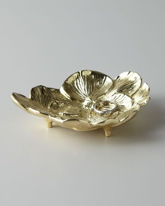 """""""Gold Orchid"""" Mini Dish by Michael Aram at Neiman Marcus."""