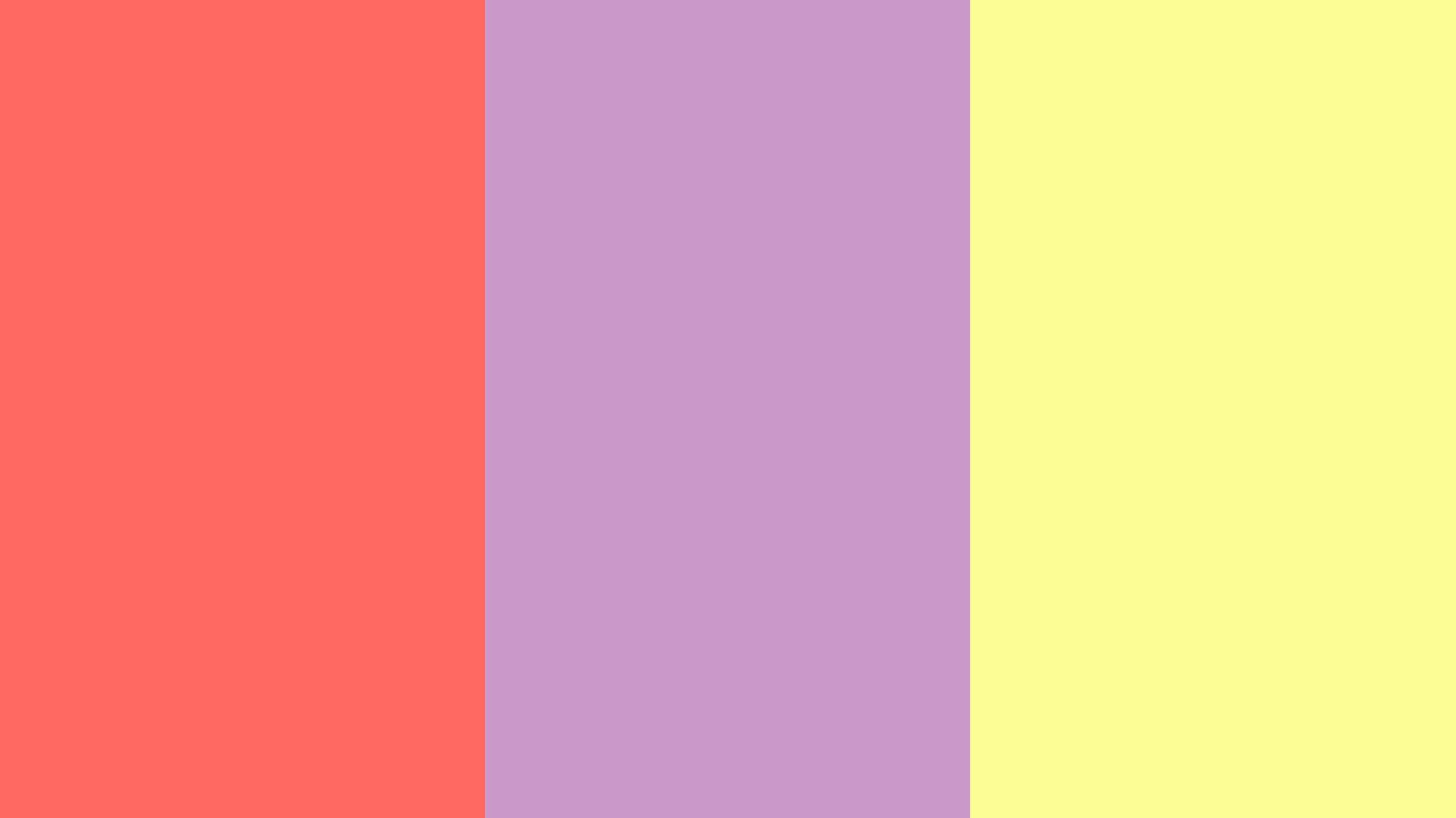 2560x1440 Pastel Red, Pastel Violet and Pastel Yellow Three Color ...