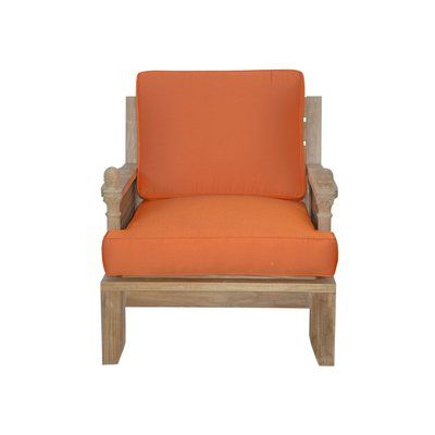 Anderson Teak Luxe Teak Patio Chair with Sunbrella Cushions - Anderson Teak Luxe Teak Patio Chair With Sunbrella Cushions In 2018