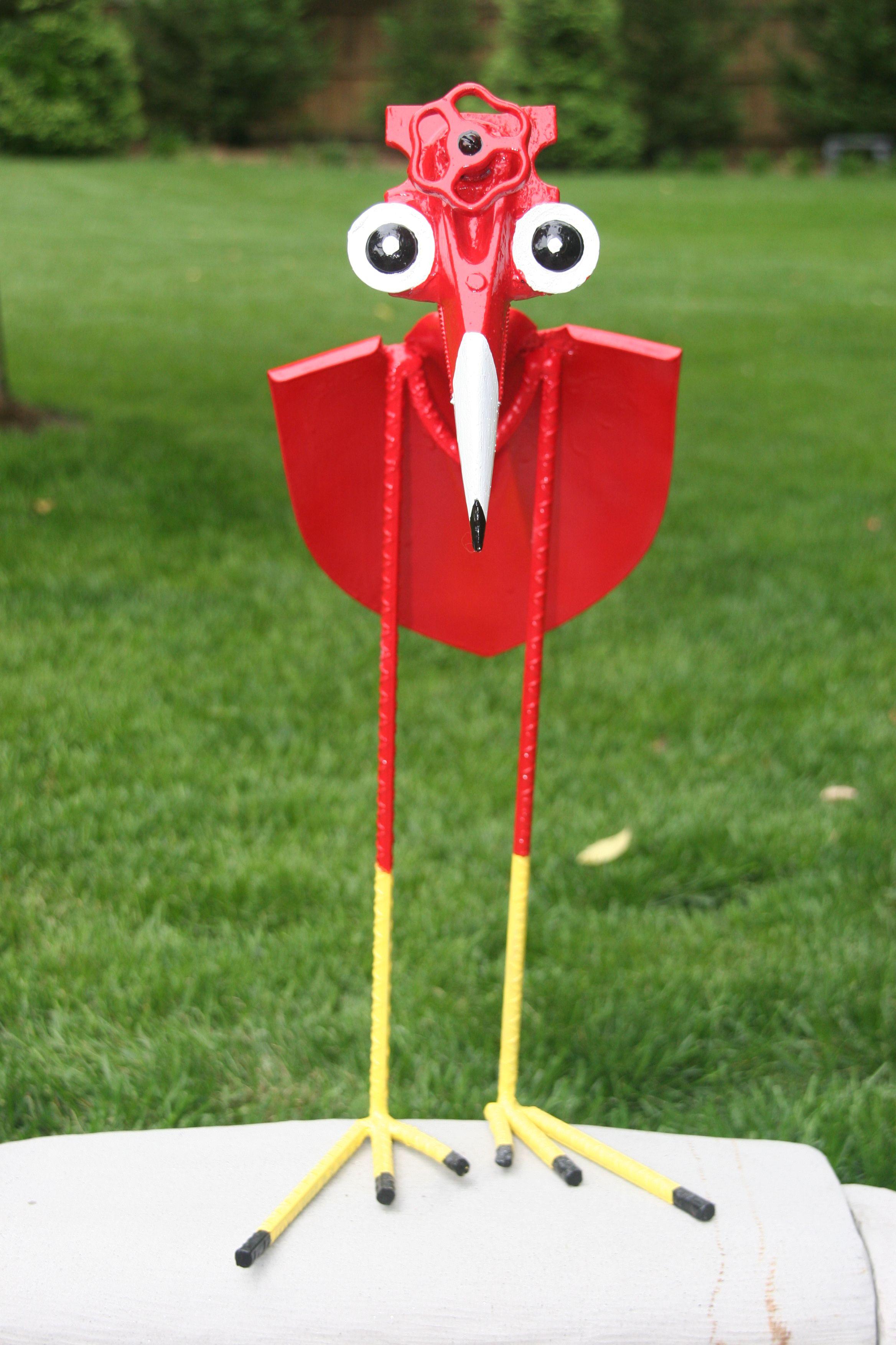 """Yard Bird"" Scrape shovel and other items.   Metal yard ..."