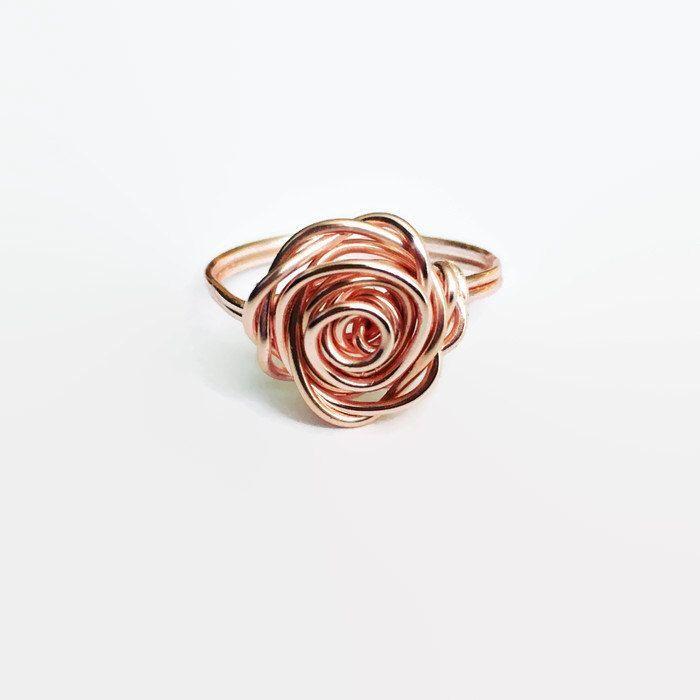 Rose Gold Rose Ring, Rose Gold Ring, Flower Ring, Rose Shaped Ring, Statement Ring, Unique Ring, Best Friend Gift, Feminine Jewellery, #Feminine #Flower #friend #Gift #gold #jewellery #ring #Rose #Shaped #Statement #Unique