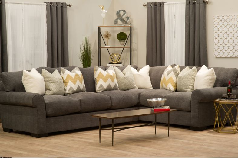 2pc Destroyer Sectional Woodstock Furniture Outlet Home Ideas