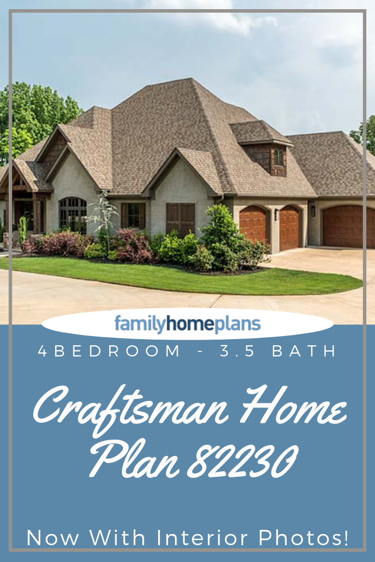 4 Bedroom Craftsman House Plan Now With Interior Photos Family Home Plans Blog Stone House Plans Craftsman House Plan Craftsman House Plans