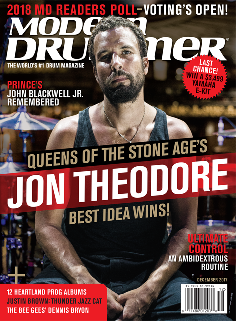 Queens Of The Stone Age S Jon Theodore Modern Drummer Magazine Queens Of The Stone Age Modern Drummer Theodore