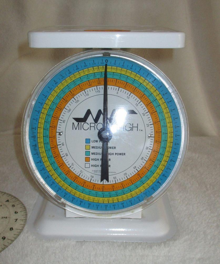 Micro Weigh Kitchen Scale VTG Retro 1978 USA made | Retro VTG ...