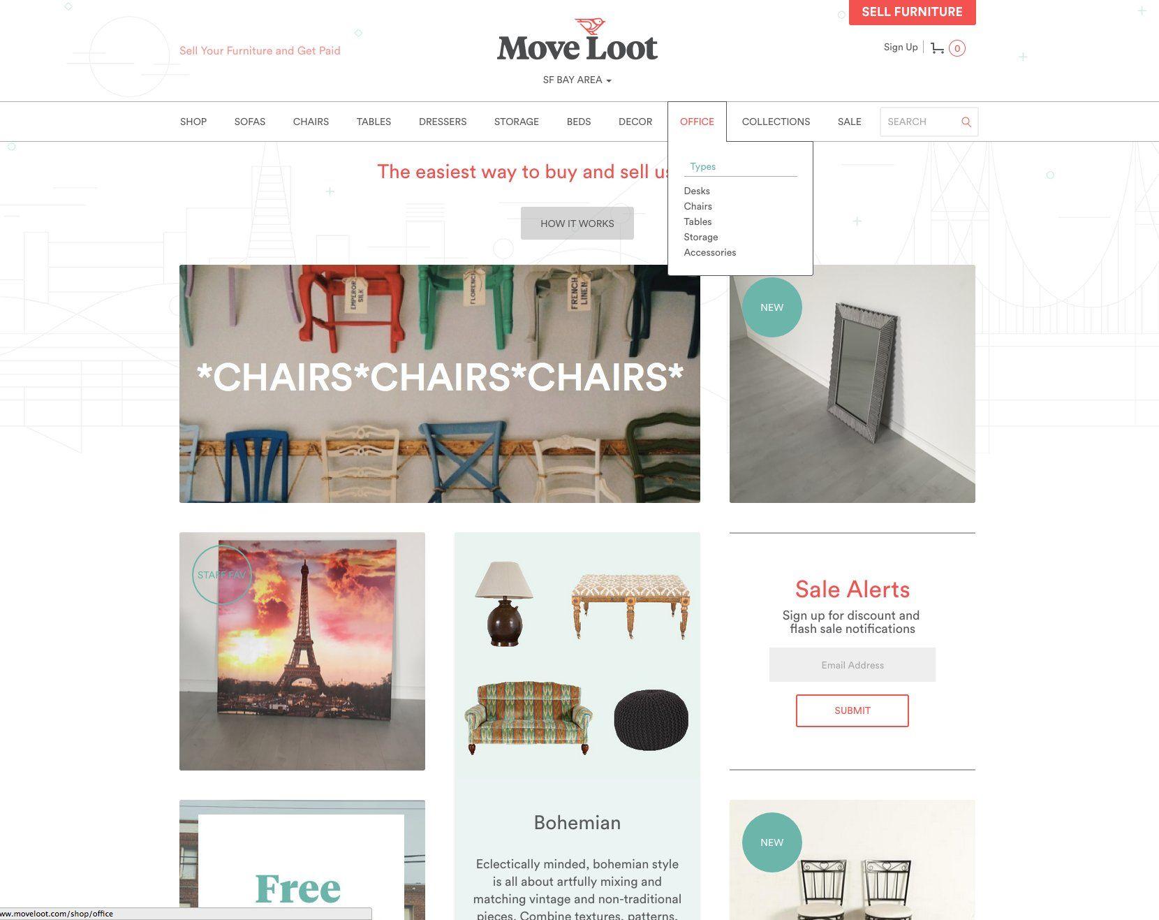 Move Loot Buy furniture online, Selling furniture