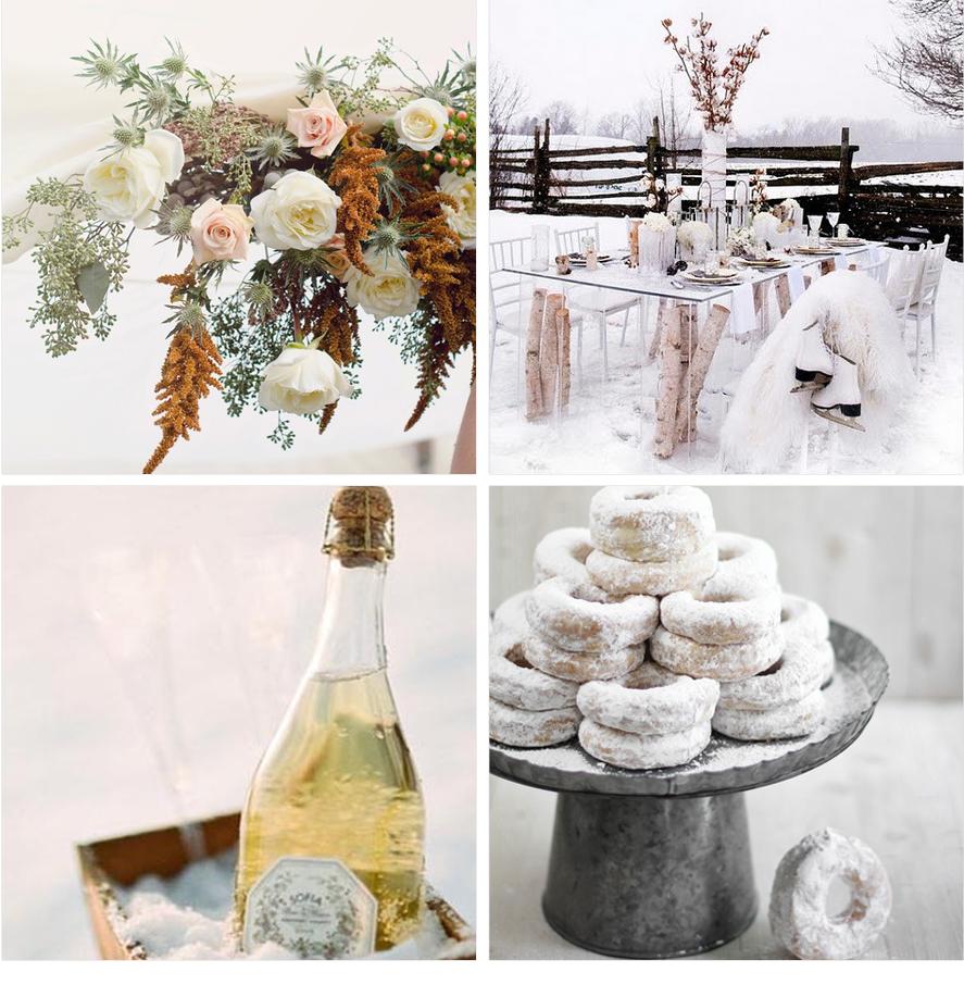 mariage hiver blanc wedding ambiance neige