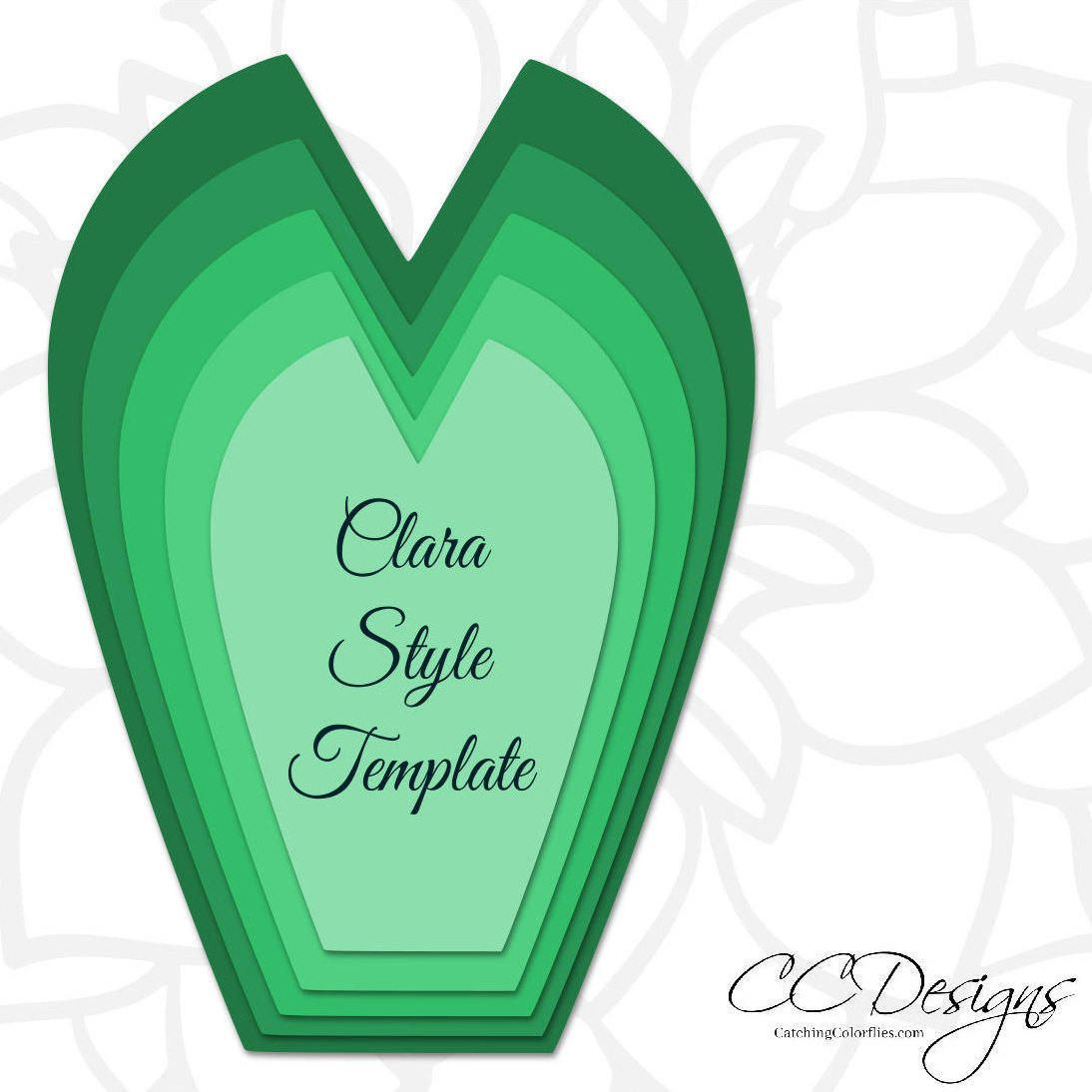 Set of  Large Paper Flower Templates Printable PDF Flower