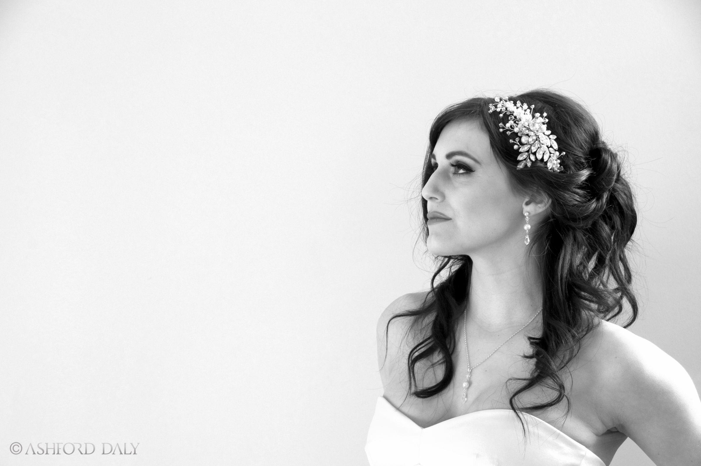 Bridal hair, long soft curls. Half up half down by Sarah Roberts ...