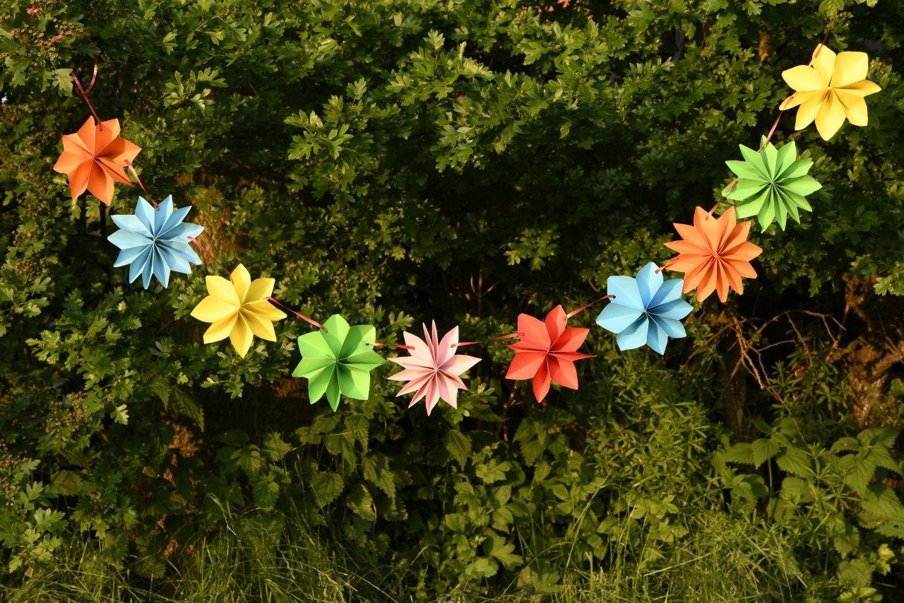 Photo of Blumengirlande für die Kinderparty