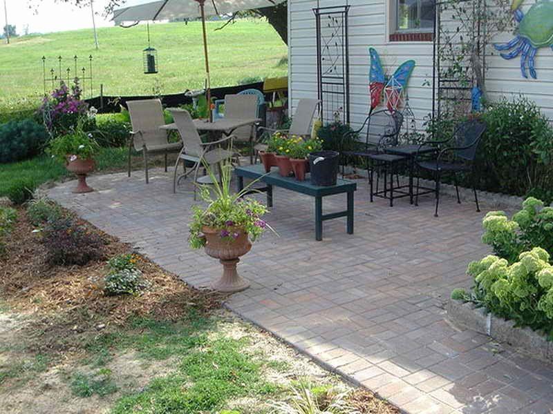 Einfache outdoor patio ideen garten garten patio