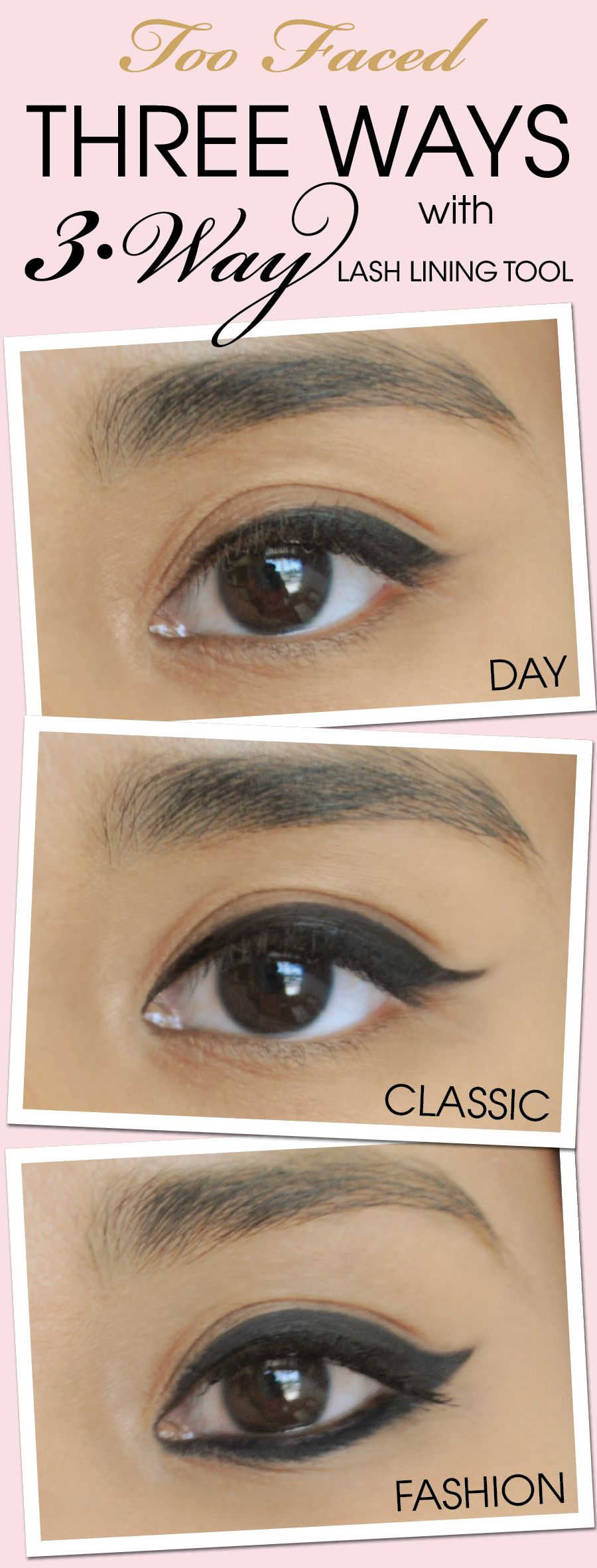 Three ways with 3 way lash lining tool we asked three ladies in trendy makeup ideas smokey eyes one amazing lash liner from sarah long faced cosmetics baditri Choice Image