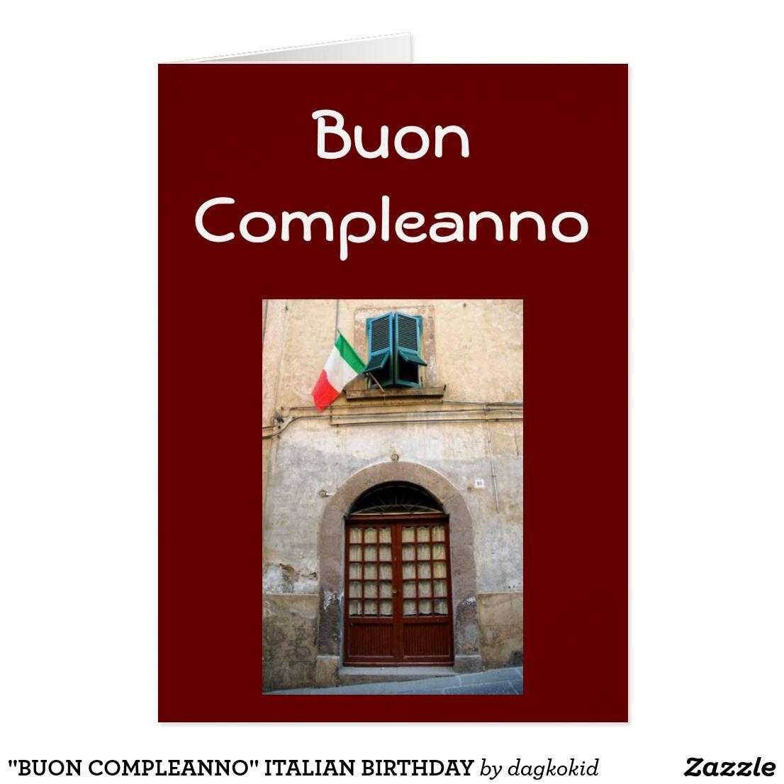 Buon Compleanno Italian Birthday Card Zazzle Com Birthday Wishes Greeting Cards Birthday Wishes For Mom Birthday Greeting Cards