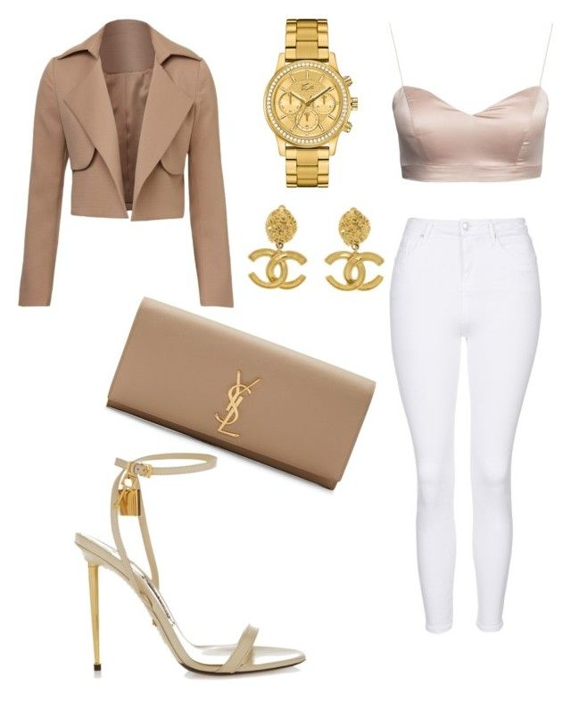 """""""Untitled #26"""" by lluviagb on Polyvore featuring Topshop, Tom Ford, Chanel, Lacoste and Yves Saint Laurent"""