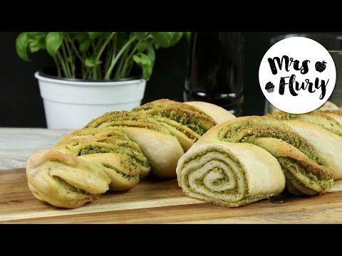 vegan backen Pesto Brot Pesto Brot vegan Brot