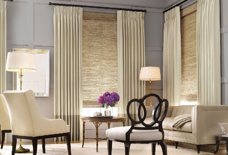 Contemporary window treatments living room home - Modern window treatments for living room ...