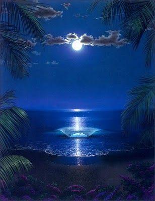 lua cheia e mar